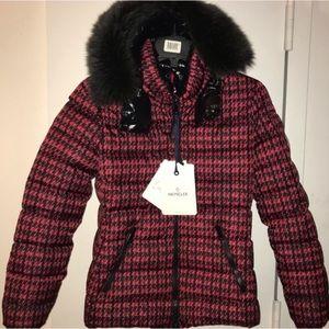 Moncler Bady Fur Printed R&B Jacket Size 1 (XS)